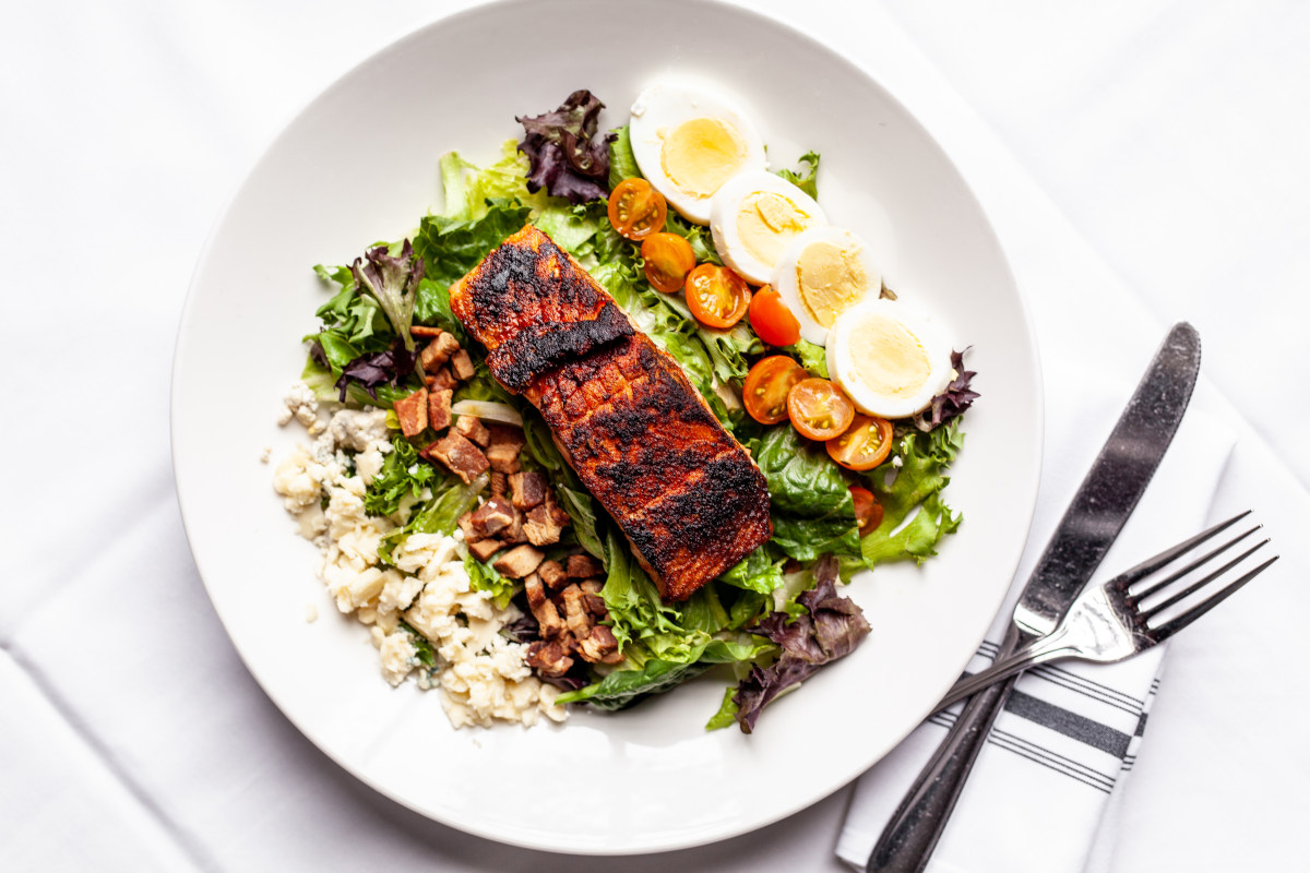 cobb salmon salad