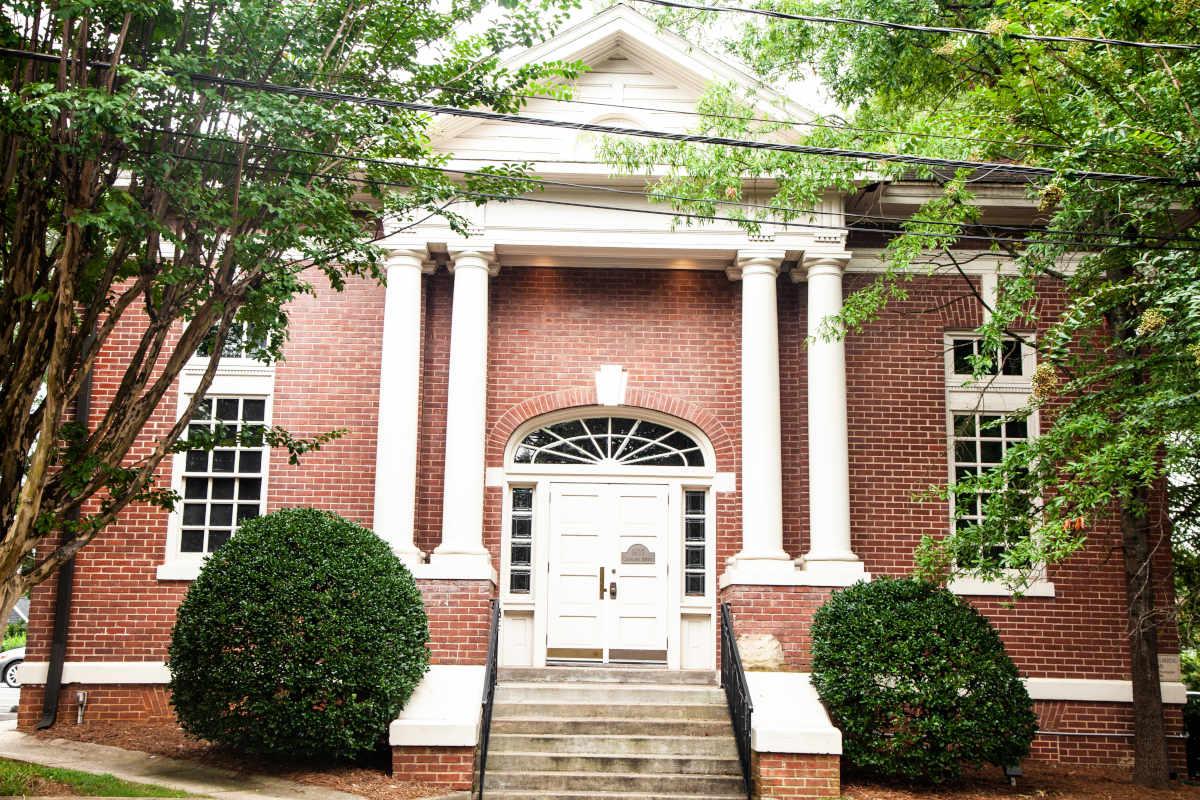 Exterior, main entrance