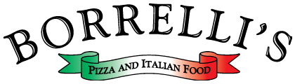 Borrelli's Pizza & Italian Food logo scroll