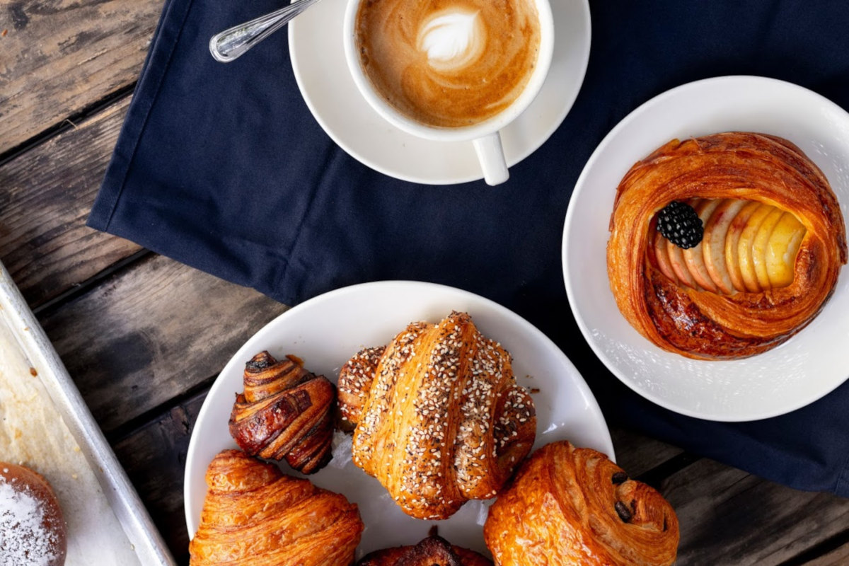 pastries with cappuccino
