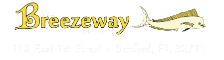 The Breezeway Restaurant logo scroll