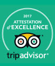 TripAdivsor 2017 Certificate of Excellence