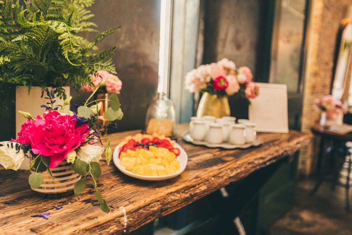 Restaurant decorations, fruit salad