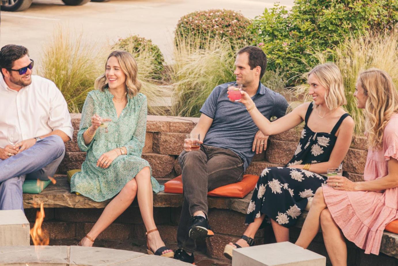 Guests having drink, having fun