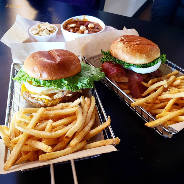 burgers, fries, sides