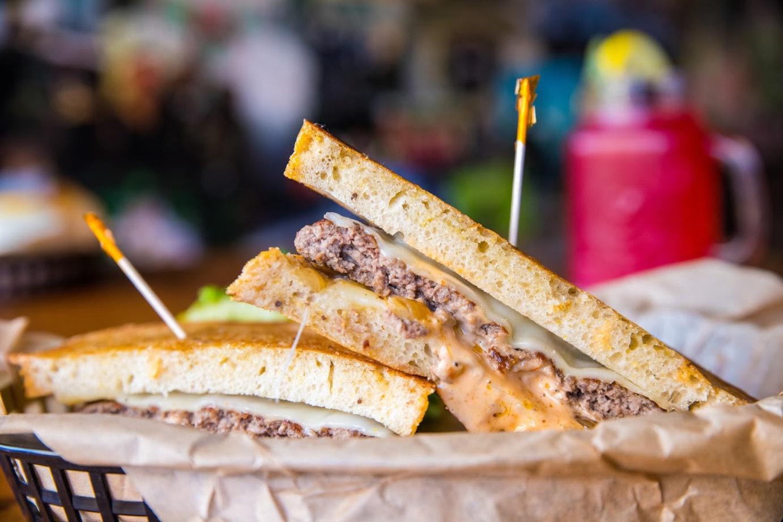 Two sandwiches closeup