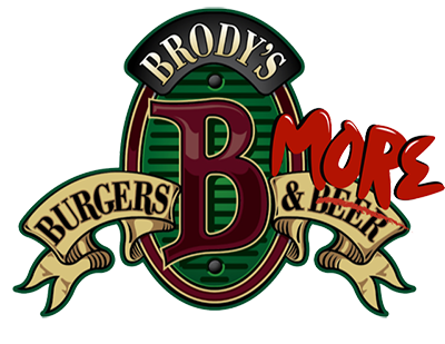 Brody's Burgers & Beer logo scroll
