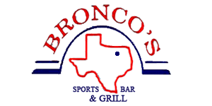 Bronco's Sports Bar and Grill logo top