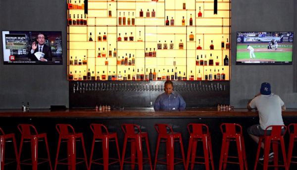Brother John's Beer Bourbon BBQ bar interior