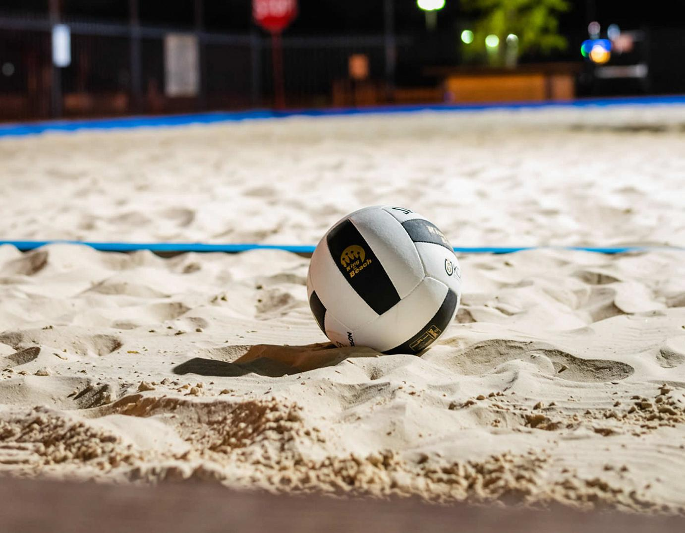 volleyball ball on the sand
