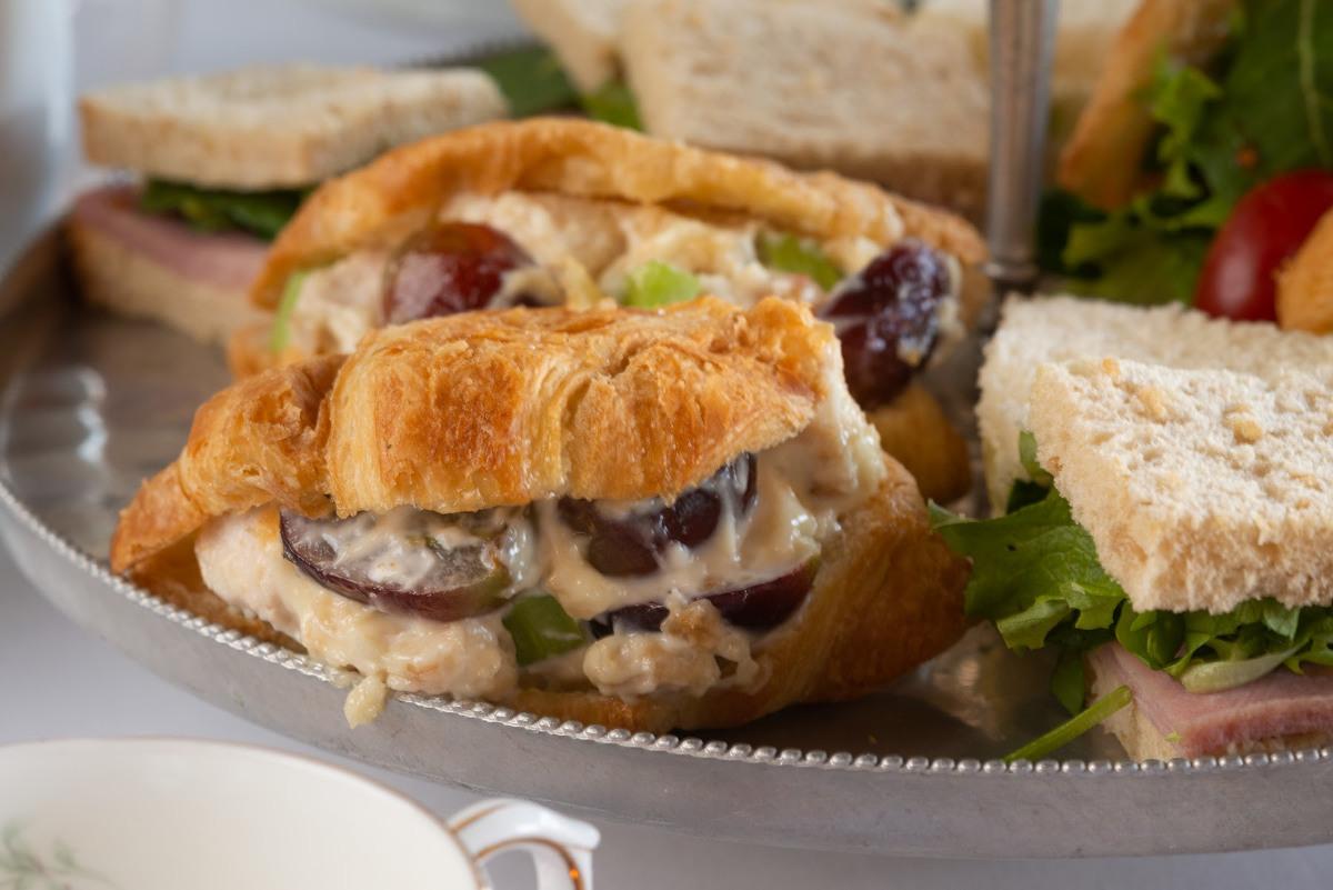 Stuffed croissants, close up