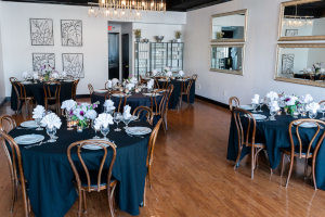 Beautifully decorated tables, cozy atmosphere