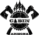 Cabin Whiskey and Grill logo scroll