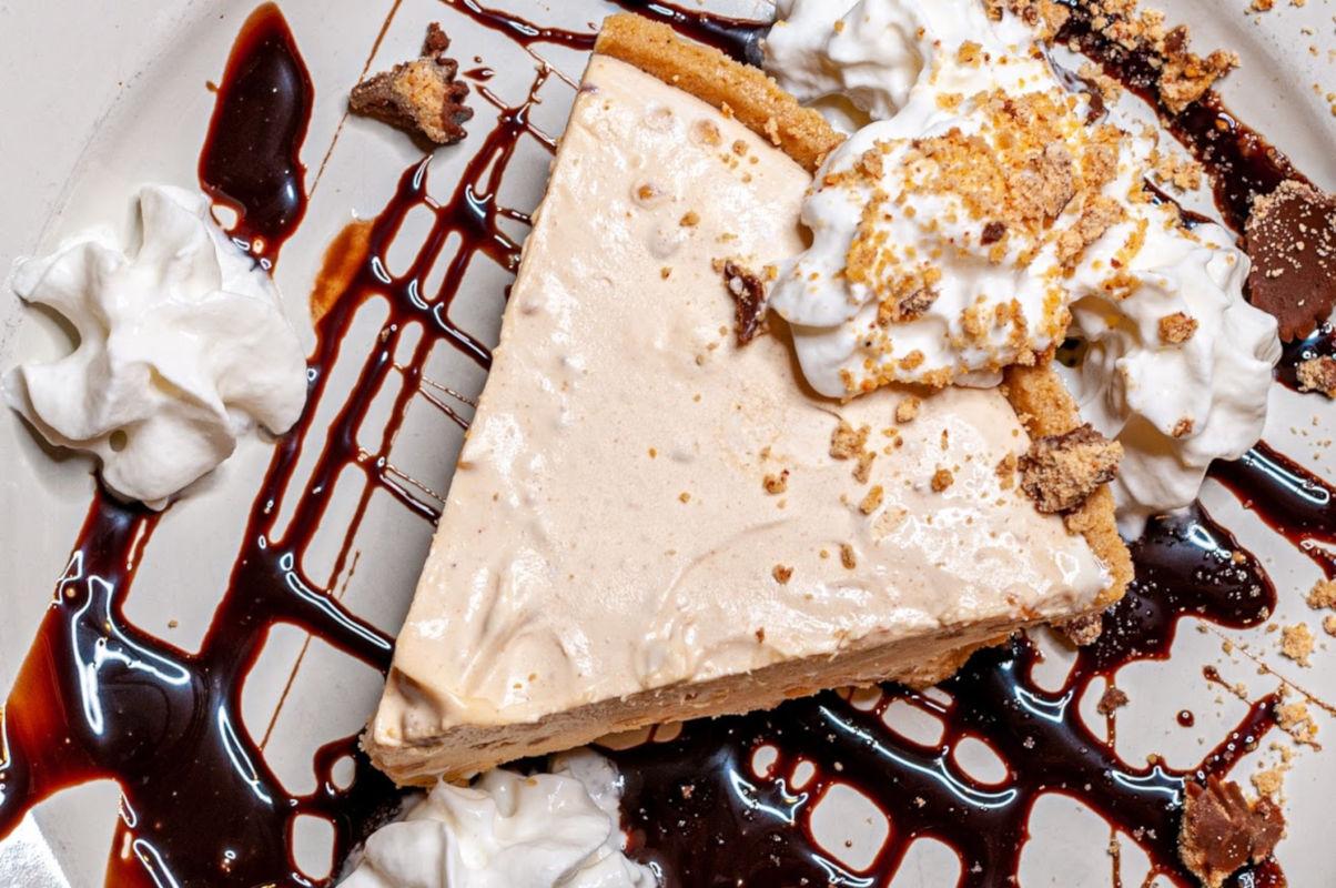 Dessert cake closeup