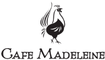Café Madeleine logo scroll