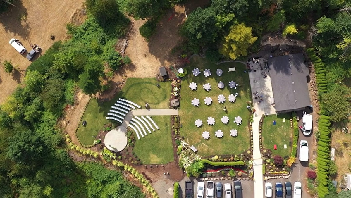Cape Horn Estate and Venue view from the air