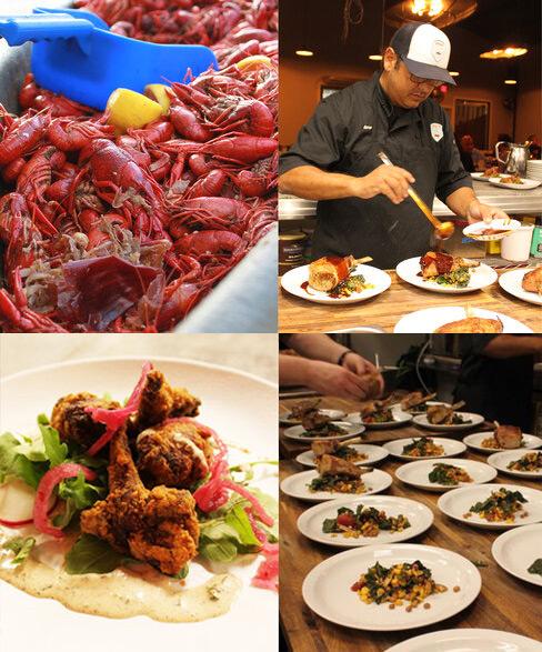 crawfish, chef, plates