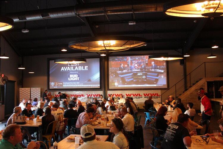 Live radio celebration, big TV screens