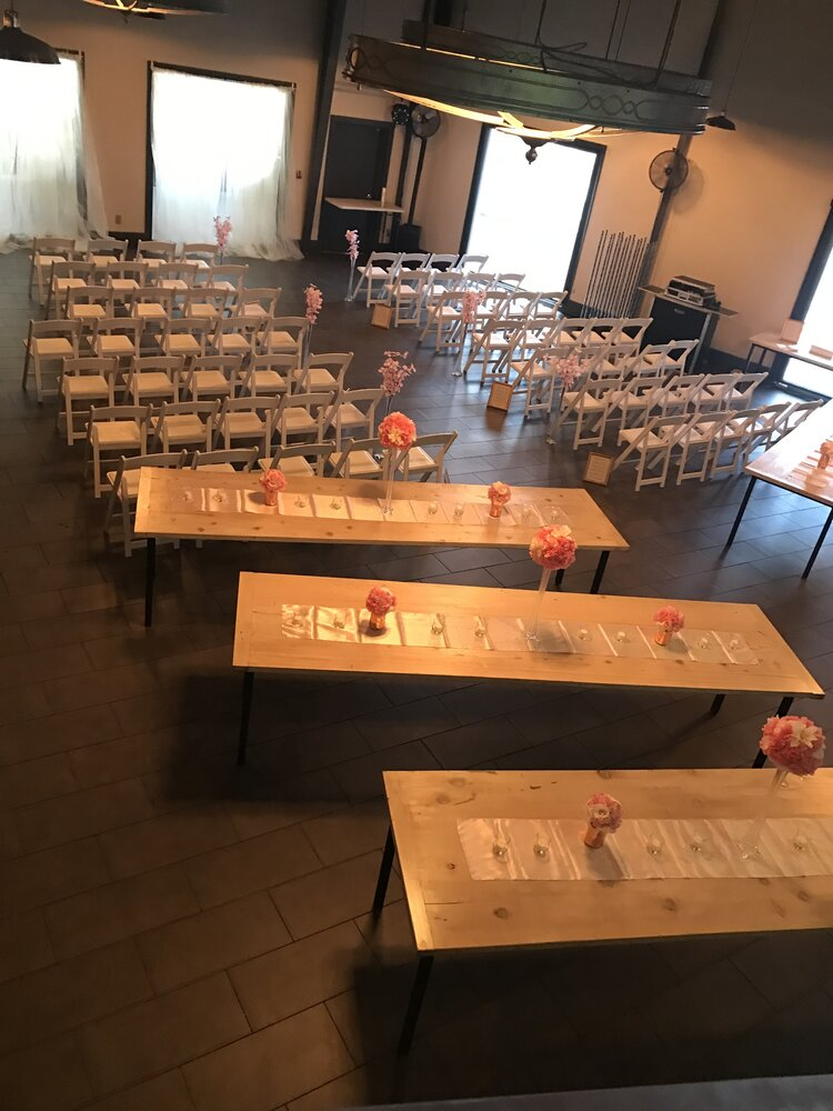 Set table for wedding reception