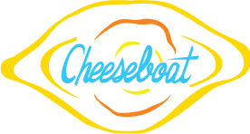Cheeseboat logo scroll