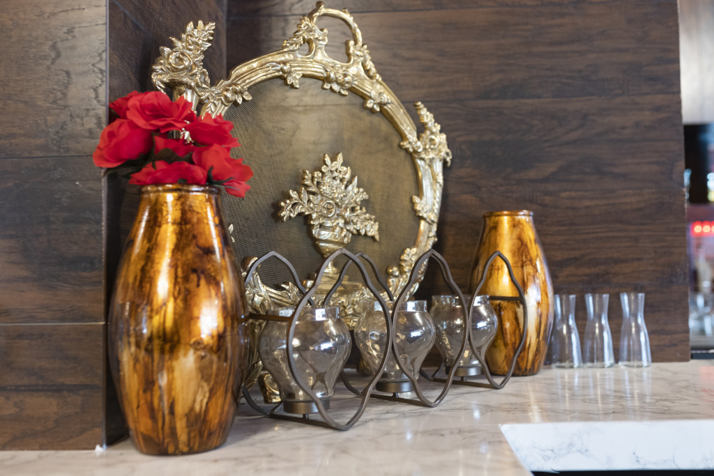 vasea with flowers, table decoration