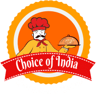 Choice of India Restaurant logo scroll
