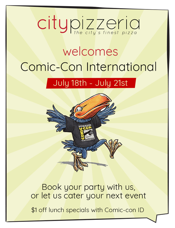Comic-Con International flyer