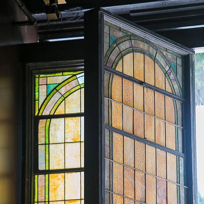 Rustic decorative window closeup