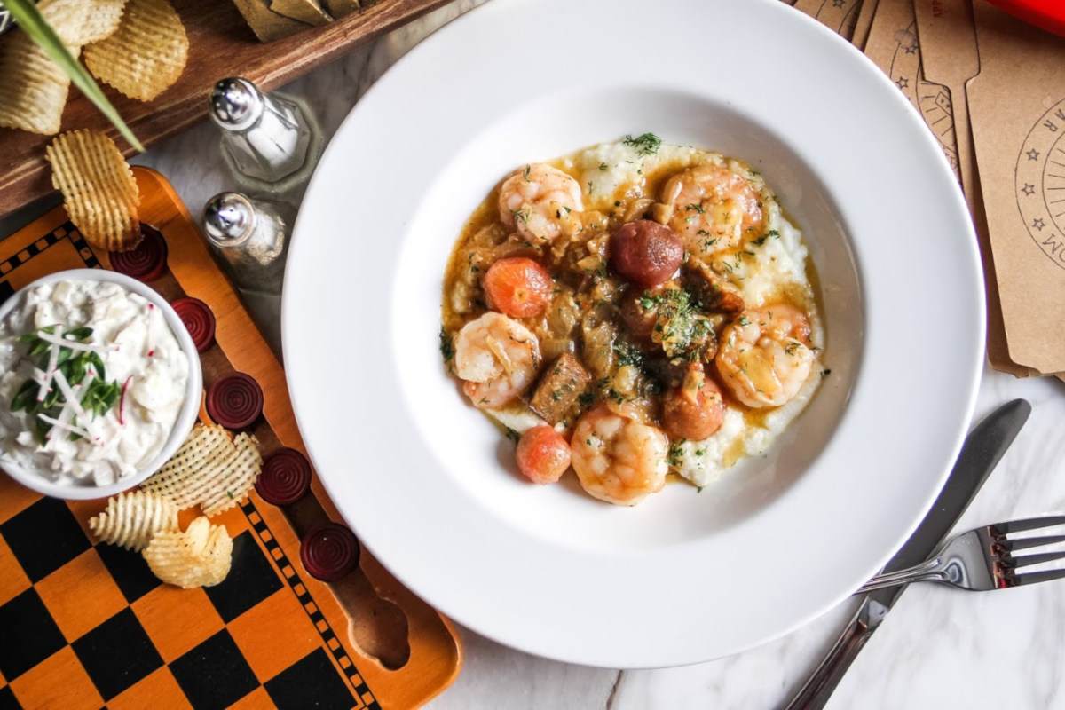 Spymaster Shrimp and Grits
