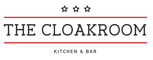 The Cloakroom Kitchen & Bar logo scroll