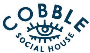 Cobble Social House logo top