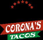 Corona's Tacos logo scroll