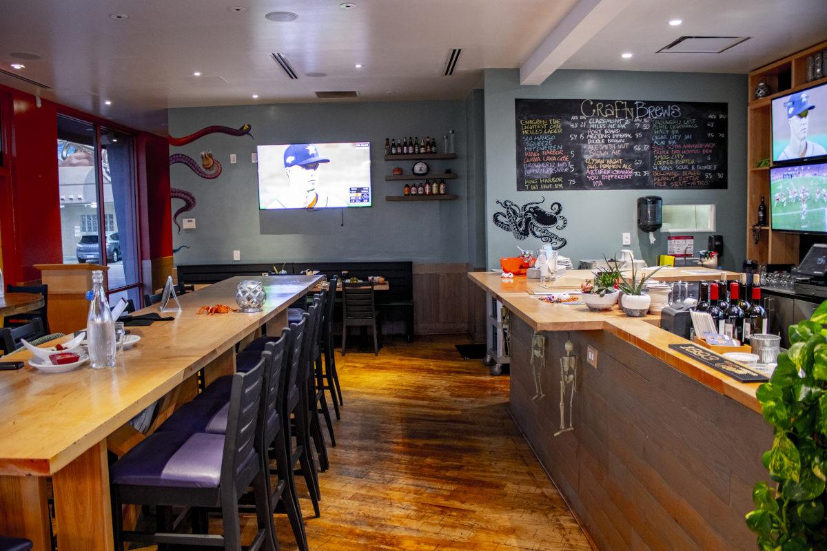 interior, spacious bar