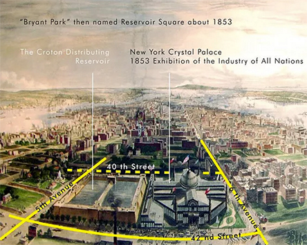 Bryant Park about 1853