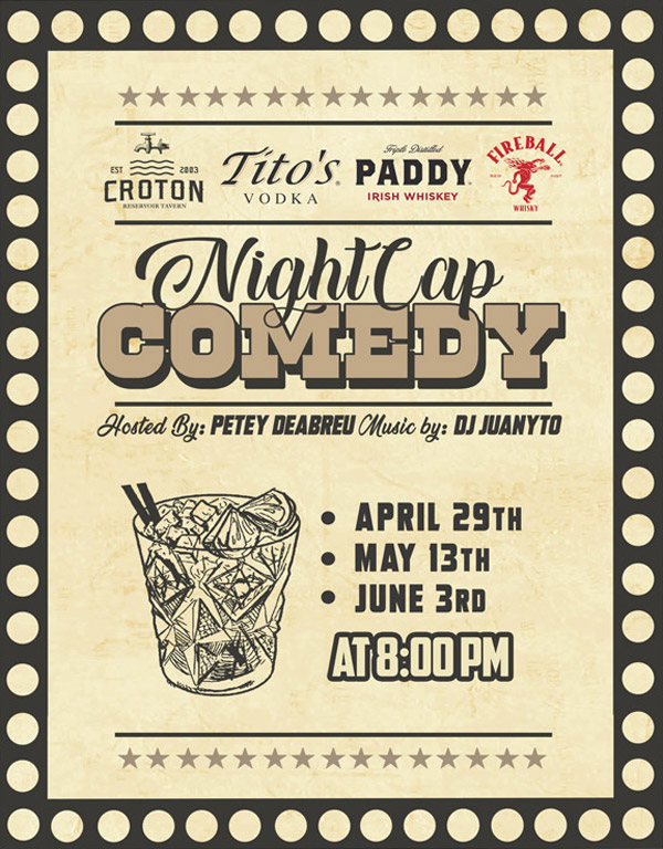 croton night cap comedy flyer