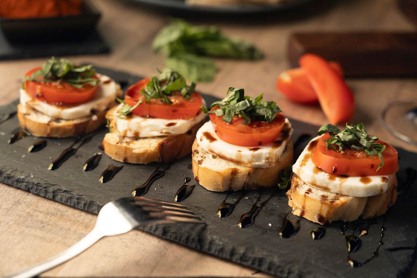 Toast with cheese and tomato
