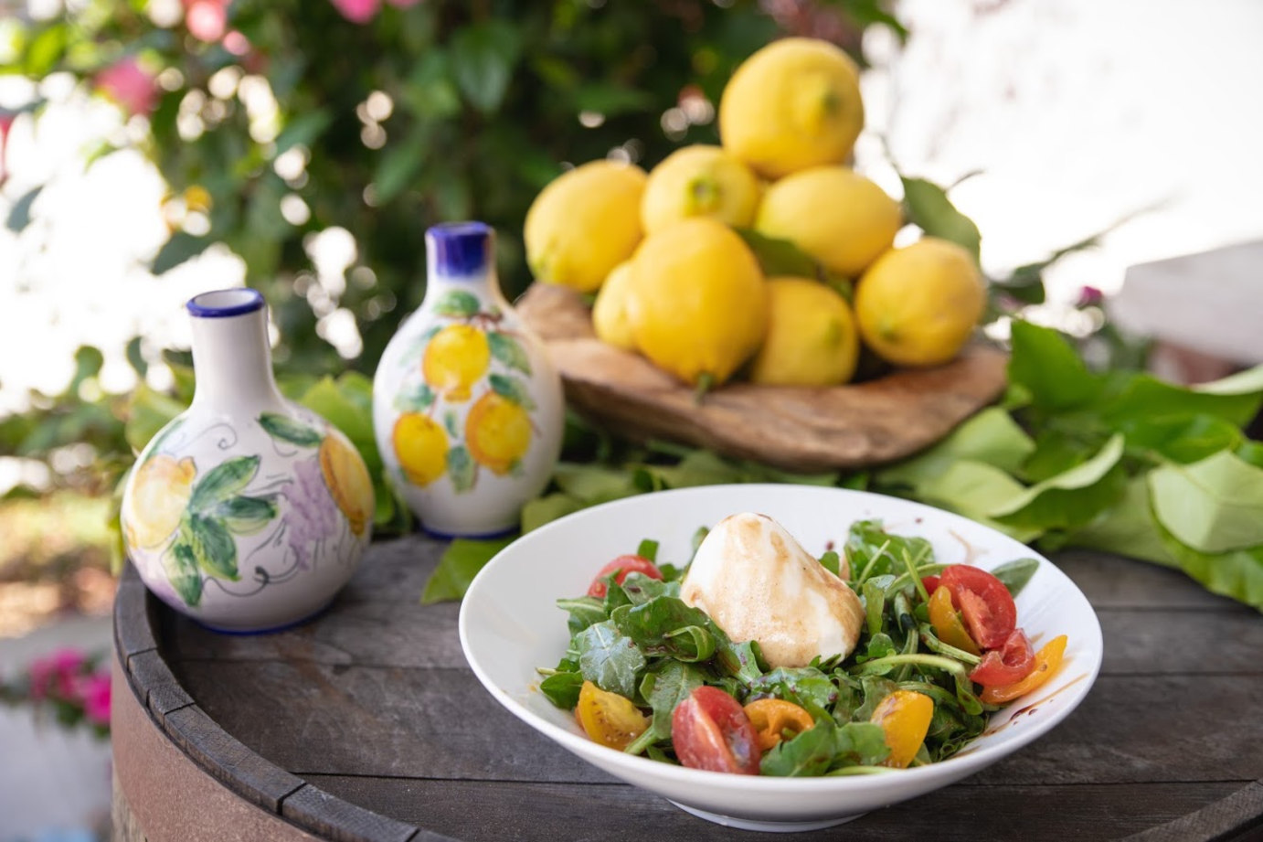 Colorful salad with fish