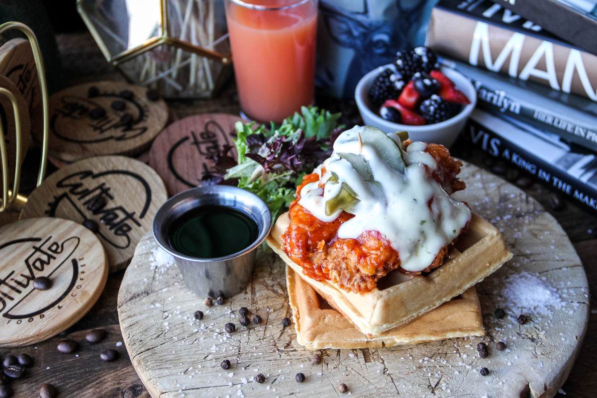 Nashville hot chicken and waffles