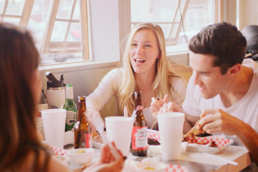 Guests enjoying food