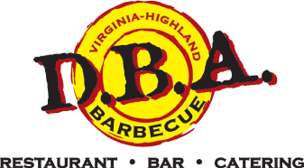 DBA Barbecue logo scroll