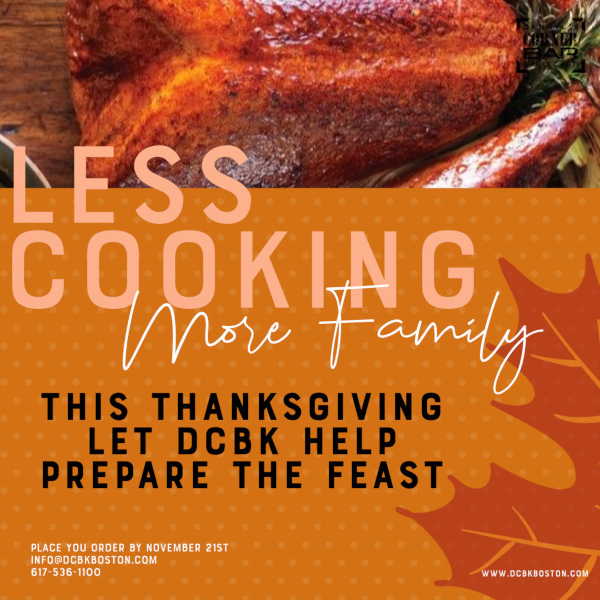 Less cooking more family flyer