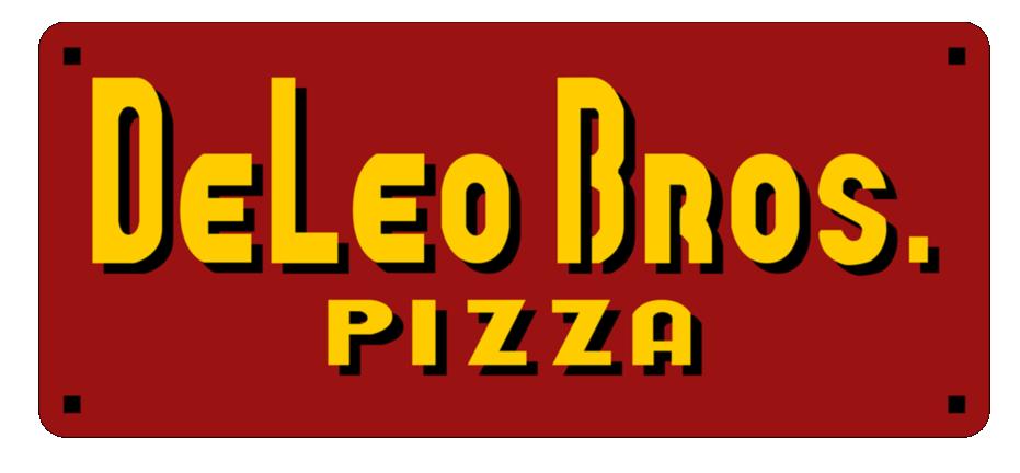 DeLeo Bros. Pizza logo top