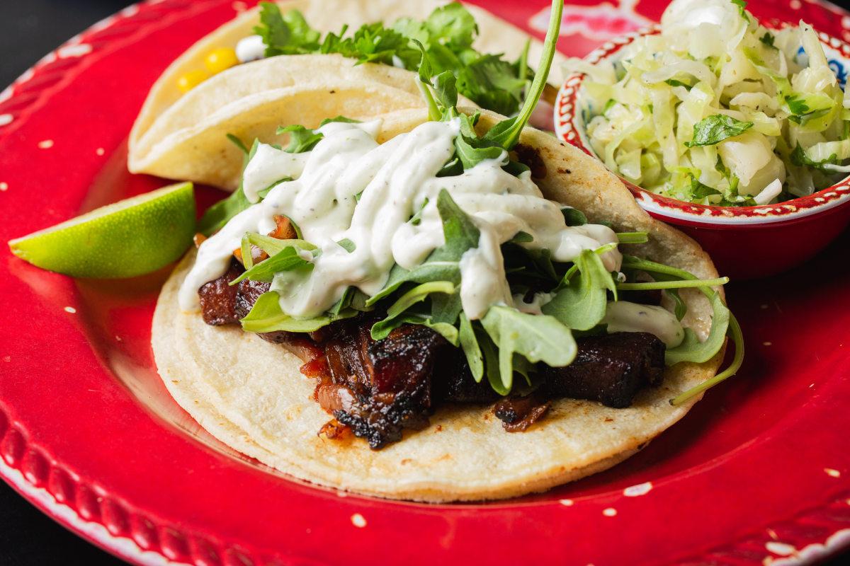smoky beet taco