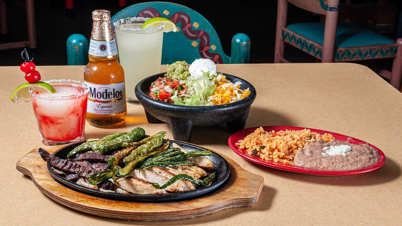 Tex-mex meals and drinks