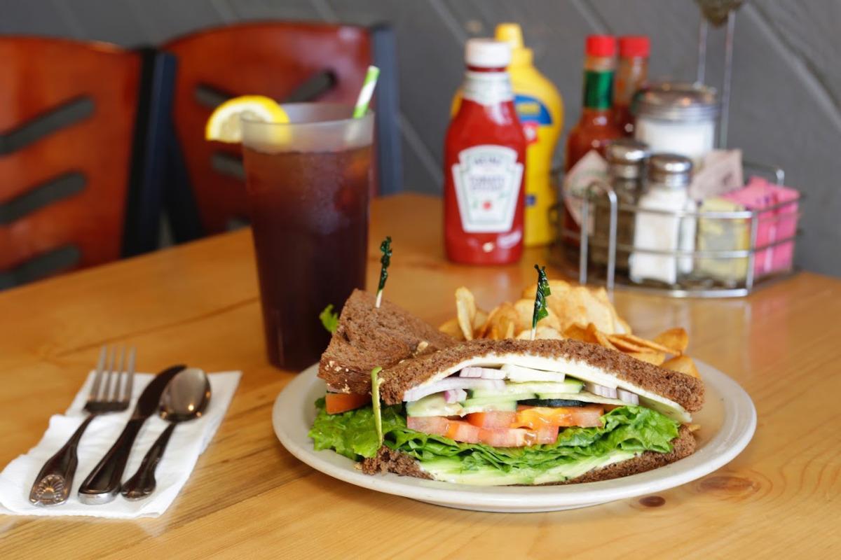 Sandwich, snacks on the side