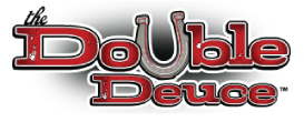 Double Deuce logo scroll