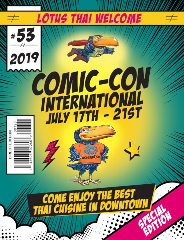 comic con flyer