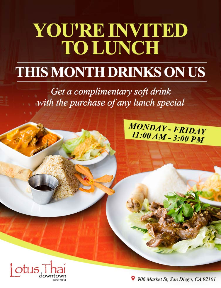 You're Invited to Lunch Flyer
