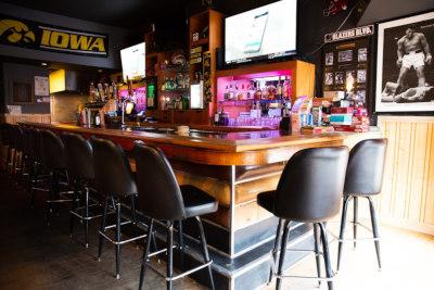 Interior, bar corner seating area