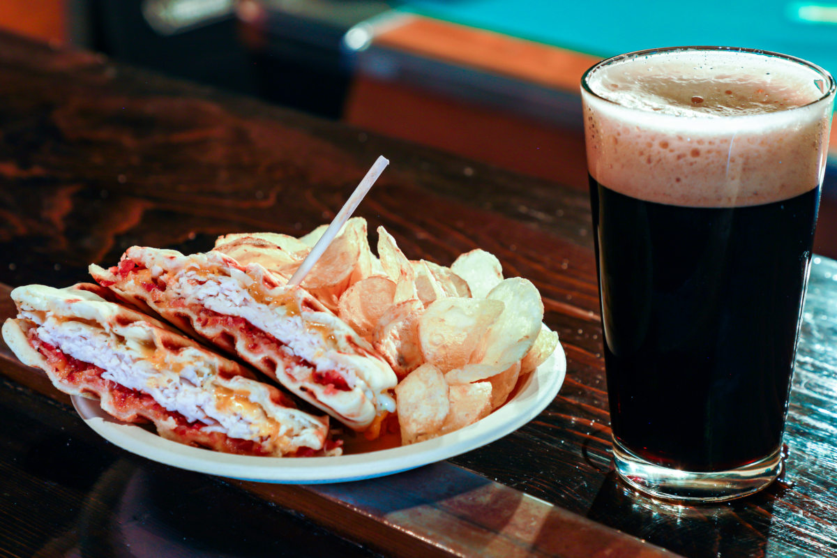 panini, dark beer